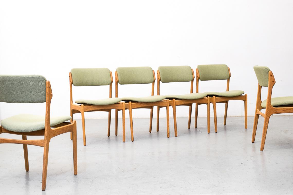 SET 6 SILLAS modelo nº49 DE Erik BucH PARA O.D. Møbler