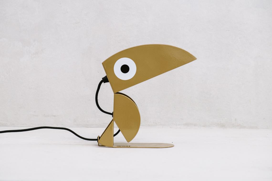 Golden Toucan lamp