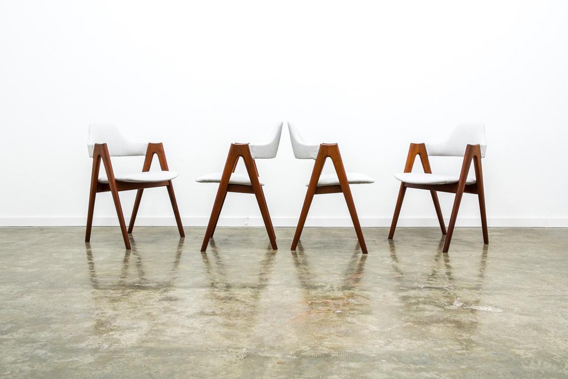SET 4 SILLAS COMPASS de Kai Kristiansen para SVA Møbler