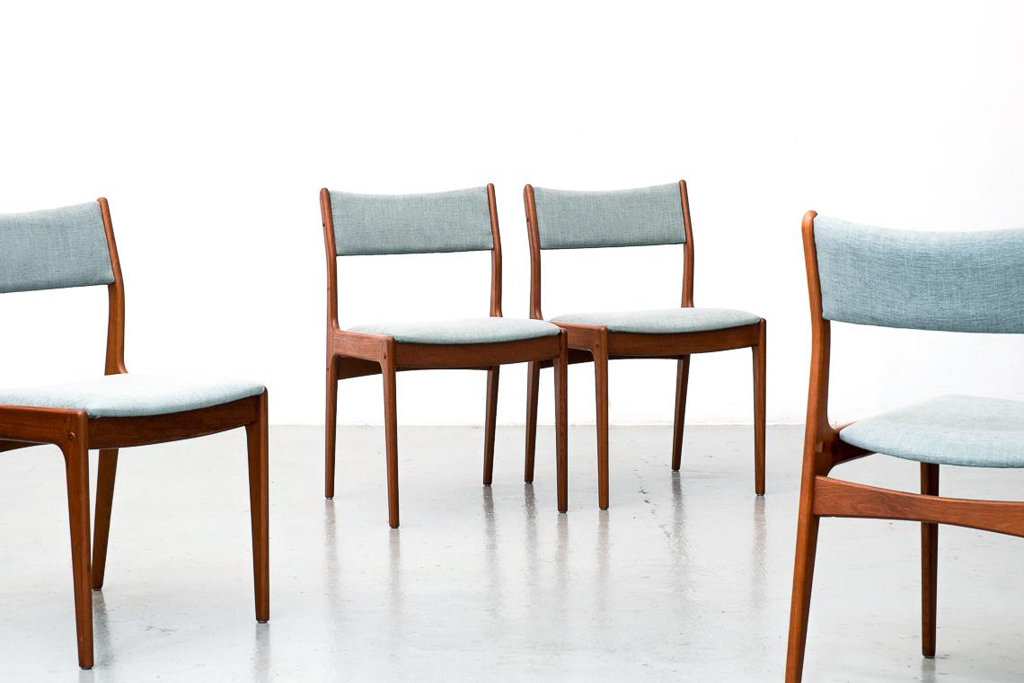 SET 4 SILLAS DE Johannes Andersen PARA Uldum Møbelfabrik