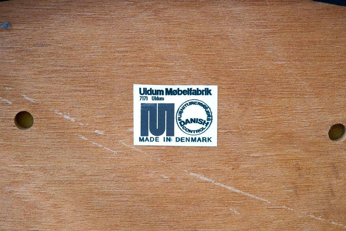 PAREJA DE SILLAS DE Johannes Andersen para Uldum Mobelfabrik