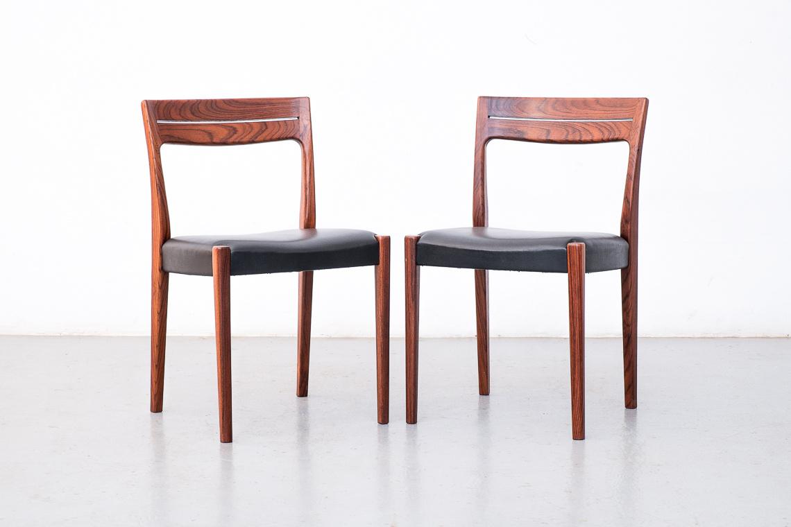 SET 2 sillas en palisandro de Svegards Markaryd