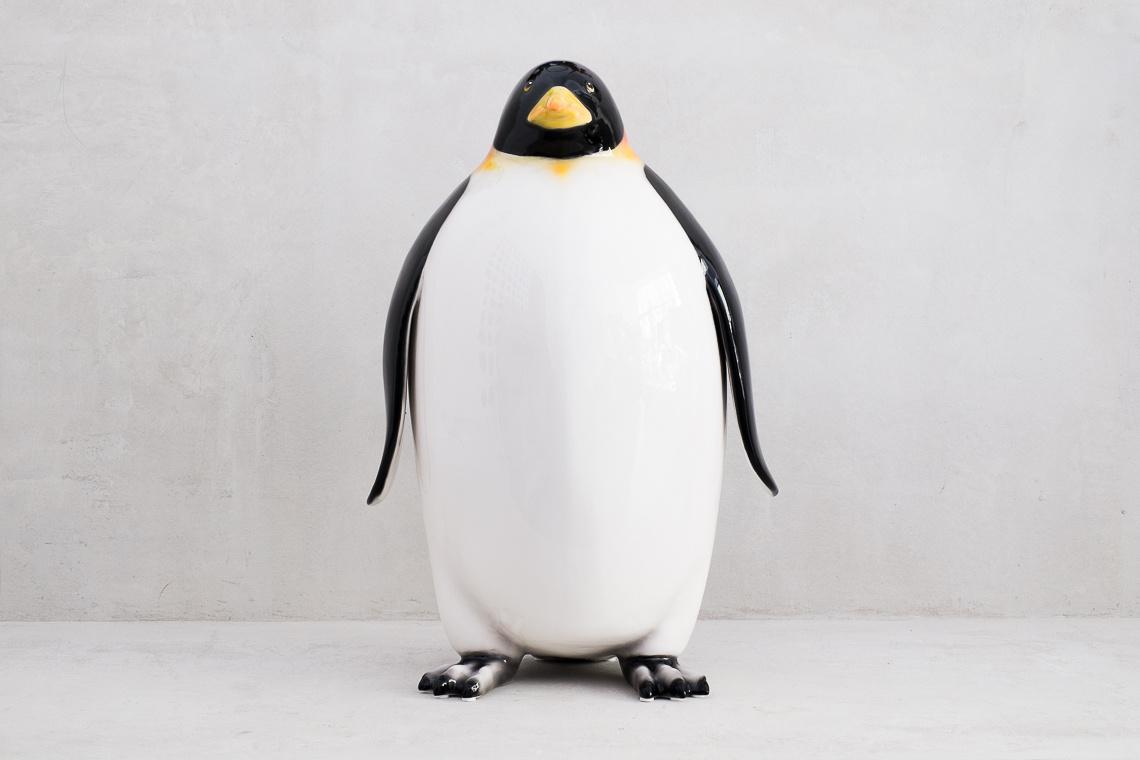 ENORME FIGURA Pingüino (80CM) EN CERÁMICA made in italy