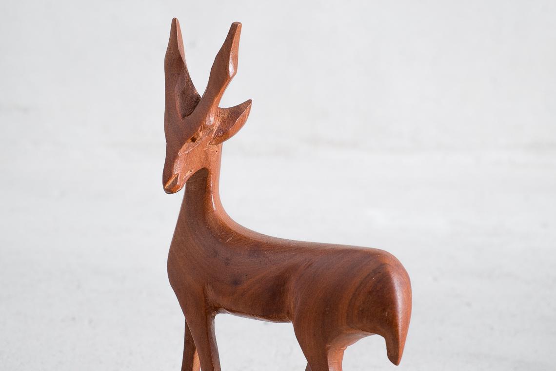 SET 3 esculturas FAMILIA DE GACELAS