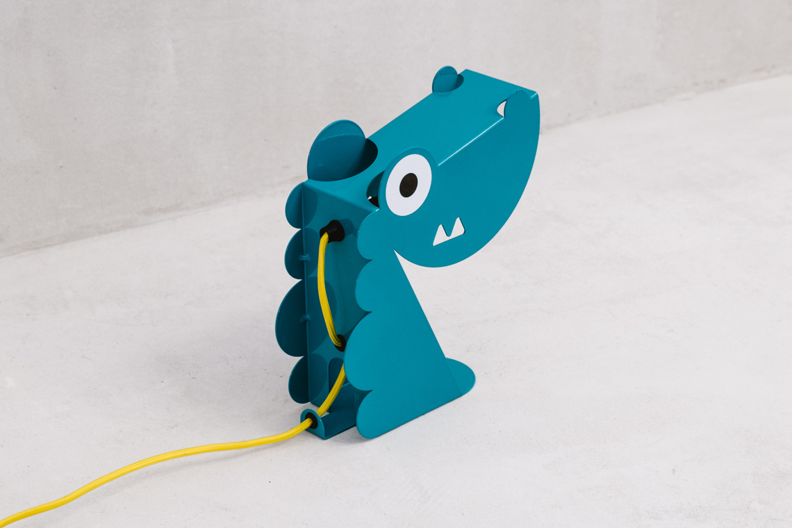 Turquoise Dino Lamp