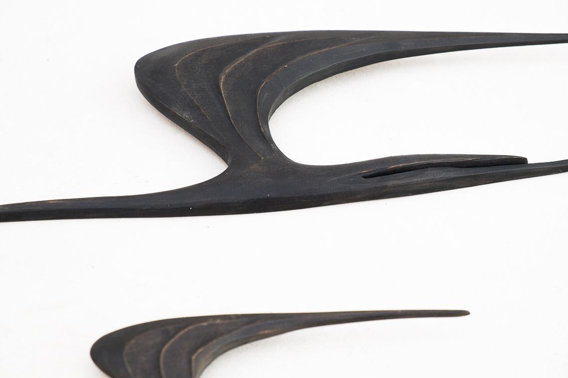 Conjunto de seis grullas DE Kunsthaus E. Oelker