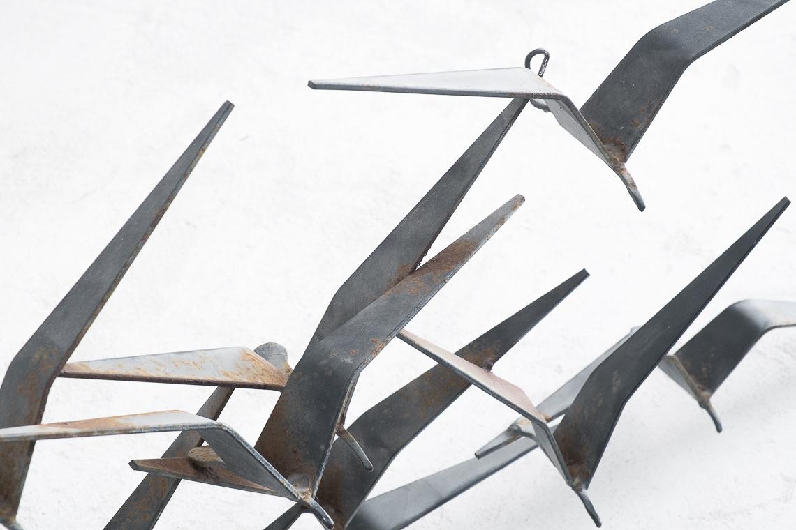 escultura pájaros en vuelo DE CURTIS JERE