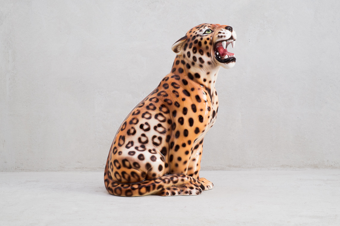 FIGURA Leopardo EN CERÁMICA (45CM) MADE IN ITALY