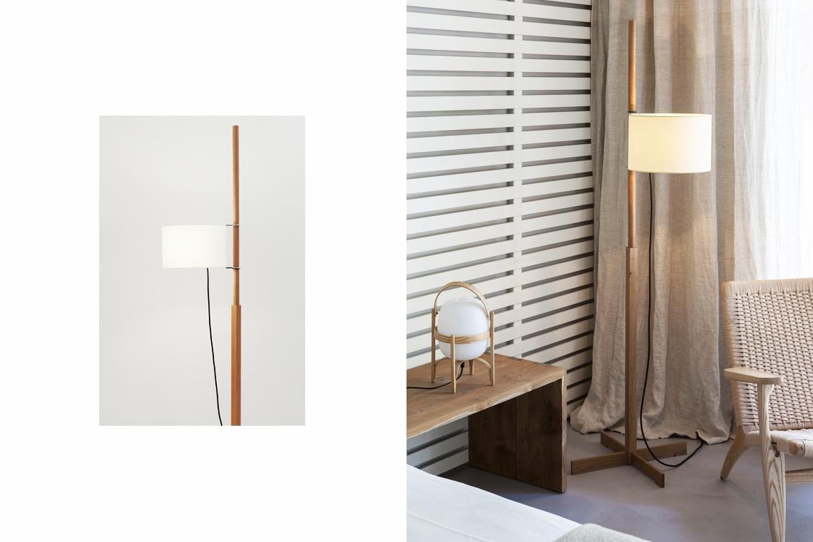 Lámpara de pie TMM en Nogal de Miguel Milà